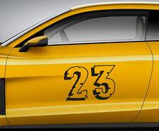 Numeri Corsa TOON 12. auto personalizzate Vinile Porta Adesivo. TRACK tracce di trasferimento.