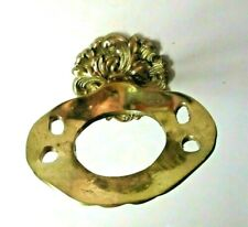 New ListingCifial Bathroom Solid Cast Brass Tumbler Glass Toothbrush Holder Wall Mount Vtg