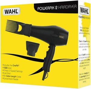 Wahl Hairdryers for Women Powerpik 2 Hair Dryer with Pik Attachment, Afro