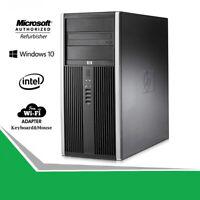 HP Elite 8200 Tower Pro Computer RAM 2TB HD 480GB SSD CORE i5 WINDOWS 10 WiFi PC