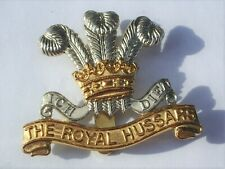 GENUINE  THE ROYAL HUSSARS STAY BRIGHT CAP BADGE
