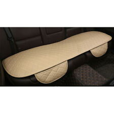 Auto Car PU Leather Rear Back Seat Cover Cushion Chair Mat Accessories Beige New