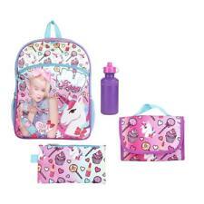 "JoJo Siwa Backpack Set 16"" 5pc Pink School Bag Tote Nickelodeon JO JO"