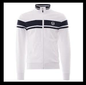 Sergio Tacchini Damarindo Sweater White/Navy Size Large (Only) brand new