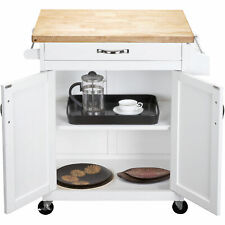 New listing Rolling Kitchen Cart Island Microwave Stand Cupboard Wood Workstation Storage