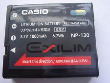 Batterie D'ORIGINE CASIO NP-130 Exilim EX-ZR1200 EX-ZR1500 ZR100 ZR850 ZR500
