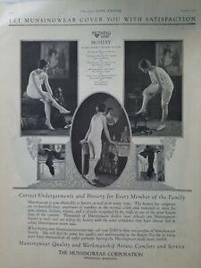 1925 Munsingwear women's underwear hosiery stockings vintage fashion ad
