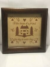 Vintage Scherenschnitte Paper To The House of a Friend the Way is Never Long 4""