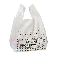 More details for patient property carrier bags - polythene plastic vest punch handle
