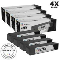 LD © 4pk Comp Black Cartridge for HP Ink 972X F6T84AN PageWide 577dw 577z 972A