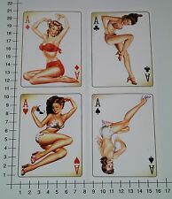 Pin up Ace 4er set Pegatina Sticker AAS rythm rockabilly Girls v8 auto se26
