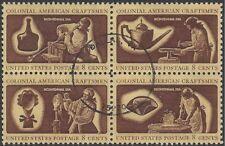 USA 1972 BICENTENARY, COLONIAL CRAFTSMEN (Block 4) FU SG 1460-3
