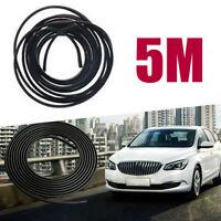 1pc 5m Black Car Door Edge Protector Trim Anti-scratch Protective Rubber Strip