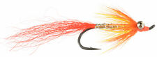 Fly Fishing Flies (Steelhead, Salmon, Trout, Bonefish) Orange Comet (6 flies)