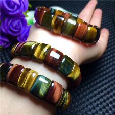 Gemstone Beads Bracelet 15*10mm Natural Multicolor Tiger's Eye