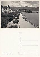 1960's LAGO MAGGIORE BAVENO ITALY UNUSED REAL PHOTPGRAPH POSTCARD