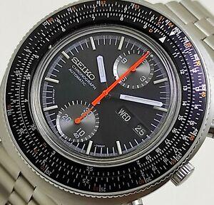 "Seiko Calculator ""Slide Rule"" JDM  Automatic Chronograph 6138-7000 Men's Watch"