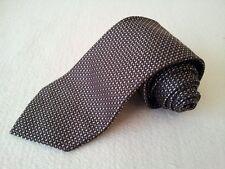 MK0028 s.oliver Krawatte 100% Seide braun,hellbraun,grau gemustert 150cm Sehr gu