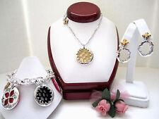 """Brighton """"MEADOW GARDEN"""" Necklace-Earring-Bracelet Set (MSR$127) NWT/Pouch"""