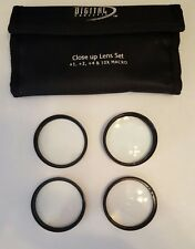 Digital Concepts Close up Lens 52mm +1, +2, +4 & 10x Macro Screw on Carry Case