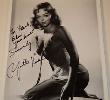 YVETTE VICKERS /  SEXY  8 X 10  B&W  AUTOGRAPHED  PHOTO