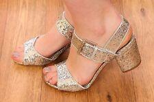 vintage style silver glitter peeptoe heels 20s deco gatsby flapper style size 4