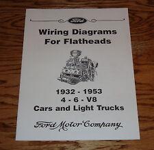 1932 - 1953 Ford Car & Light Truck Wiring Diagram Flatheads 4 6 V8 32