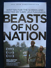 BEASTS OF NO NATION Screenplay 1st Appearance in Book Form of IDRIS ELBA Film