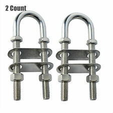 2pcs Crown Bolt Eye Bolts 3//16 X 2-1//2 with Nuts Zinc Plated