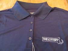 NWT Womens (L) Massachusetts State Lottery S/S Embroidered Polo Shirt