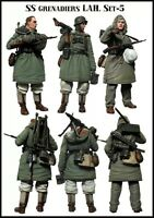 1/35 scale resin model figures kit German soldiers WW2 (3 figures)