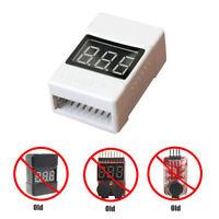 4pc 1S-8S 2 in1 RC Lipo Battery Led Low Voltage Meter Tester Buzzer Alarm EN2018