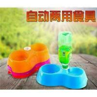 Pet Dog Cat Puppy Automatic Water Feeder Water Drinking Dispenser Food Dish Bowl