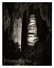 1949 Vintage NEW MEXICO CARLSBAD CAVERNS Cave Photo Engraving Art By ANSEL ADAMS