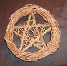 "Wonderful 12"" Wicca Pagan Grapevine Pentacle Wreath"