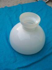 Ancienne cloche abat jour pour lampe ancienne lustre vintage verre blanc opaline