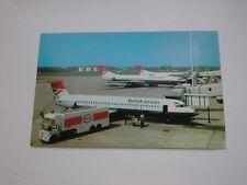 British Airways Trident at Manchester Airport - Postcard