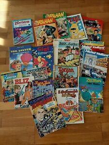GROS LOT BD/ COMICS VINTAGE ANNEES 80, BLIZ, RAHAN, ROBOTECH, ASTERIX, ASTRAPI..