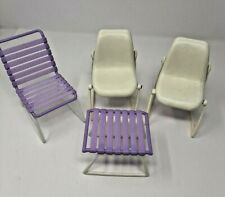 Mattel 1978 Barbie chairs white and purple Misc. lot