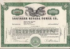 Stock certificate Southern Nevada Power Co. 1961 Nevada