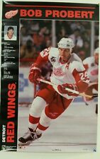 1990's BOB PROBERT Detroit Red Wings Poster NEW STILL SEALED