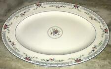 """Wedgwood Rosedale China R4665 15.5"""" Oval Platter Mint"""