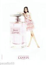 PUBLICITE ADVERTISING  046  2010  Lanvin  parfum femme Jeanne