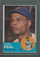 1963 TOPPS #511 CHARLIE NEAL NEW YORK METS HIGH NUMBER BK$25.00
