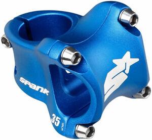 Spank Spike Race 2 Stem - 35mm 31.8 Clamp +/-0 1 1/8 Aluminum Blue