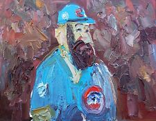 """Cubs World Series Oil Painting 8"""" x 10"""""""