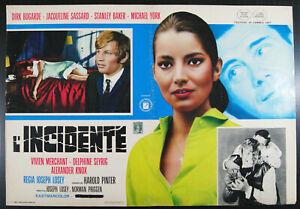 9 fotobuste film ACCIDENT - L'INCIDENTE Joseph Losey Jacqueline Sassard 1967