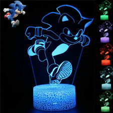 Run Sonic the Hedgehog Night Light 3D LED Acrylic Touch Table Desk Lamp Toy Gift