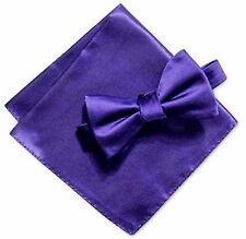 Alfani Purple Pocket Square and Adjustable Bow Tie