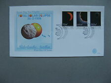 NETHERLANDS ANTILLES, cover FDC 1998, solar eclips astronomy